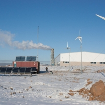 Solar-wind power plant in Tomsk Oblast